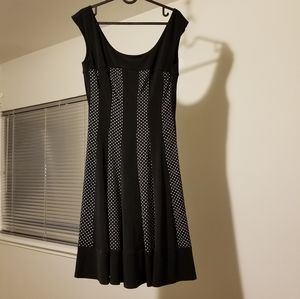 Connected apparel striped polka dot dress